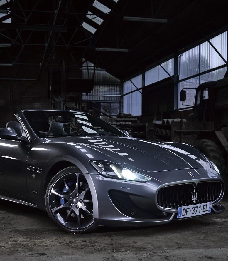 Maserati GranCabrio Sport in a shed…